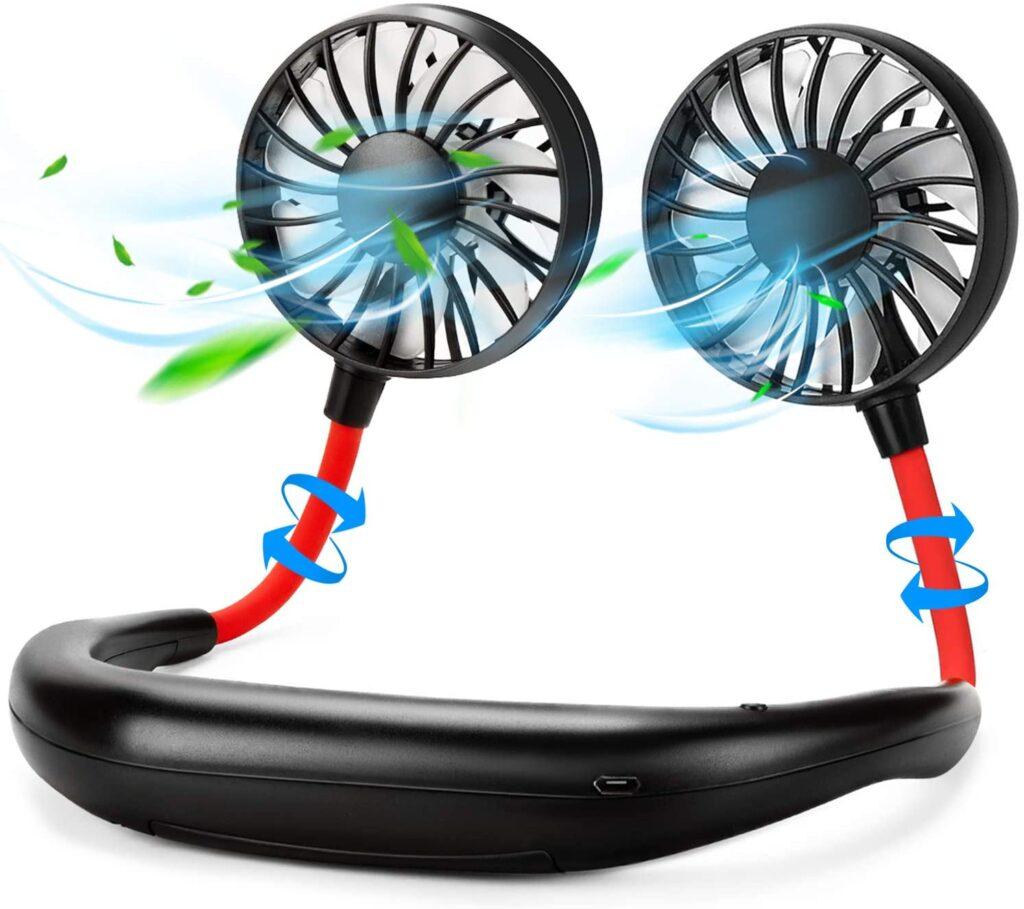 Haomaomaos Portable Neck USB Fan