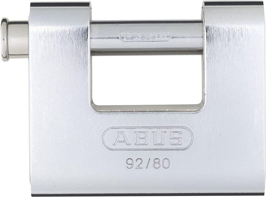 ABUS 92 80 Monoblock Solid Brass With Steel Jacket Padlock