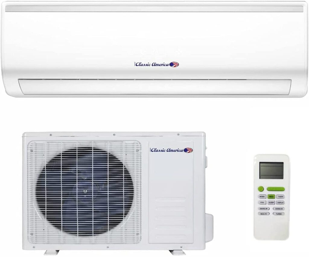 Classic America WiFi Ductless Wall Mount Mini Split Inverter Air Conditioner