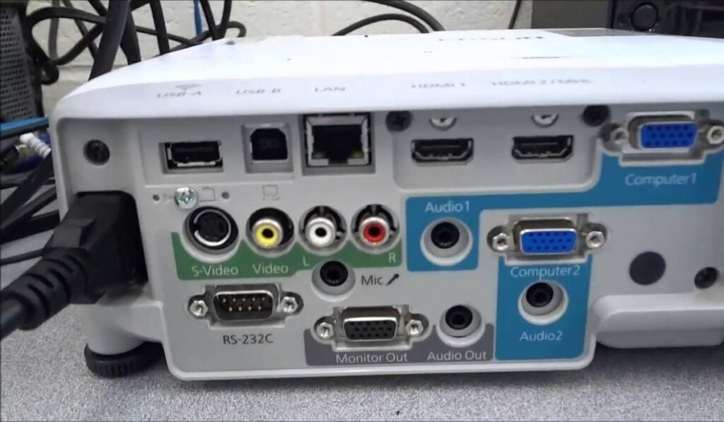 Identify The Ports Offered By Your Projector