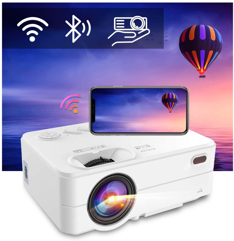Mini WiFi Bluetooth Projector Artlii Enjoy 2 Phone Projector Support Full HD 1080P And 300' Display