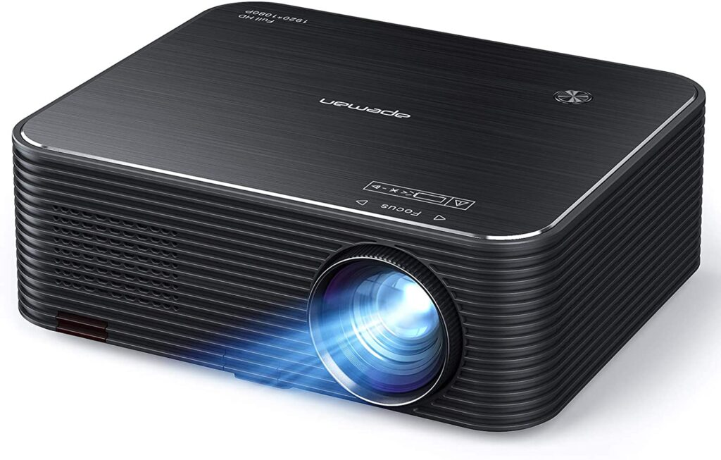 Projector, APEMAN Native 1920x1080P HD Portable Projector, Support 4K, 300 Screen For Home Theater, Outdoor Movie