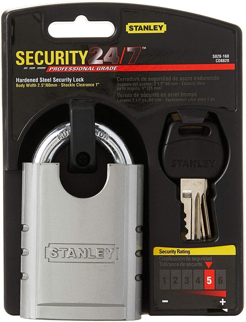 Stanley Hardware S828 160 CD8820 Shrouded Hardened Steel Padlock
