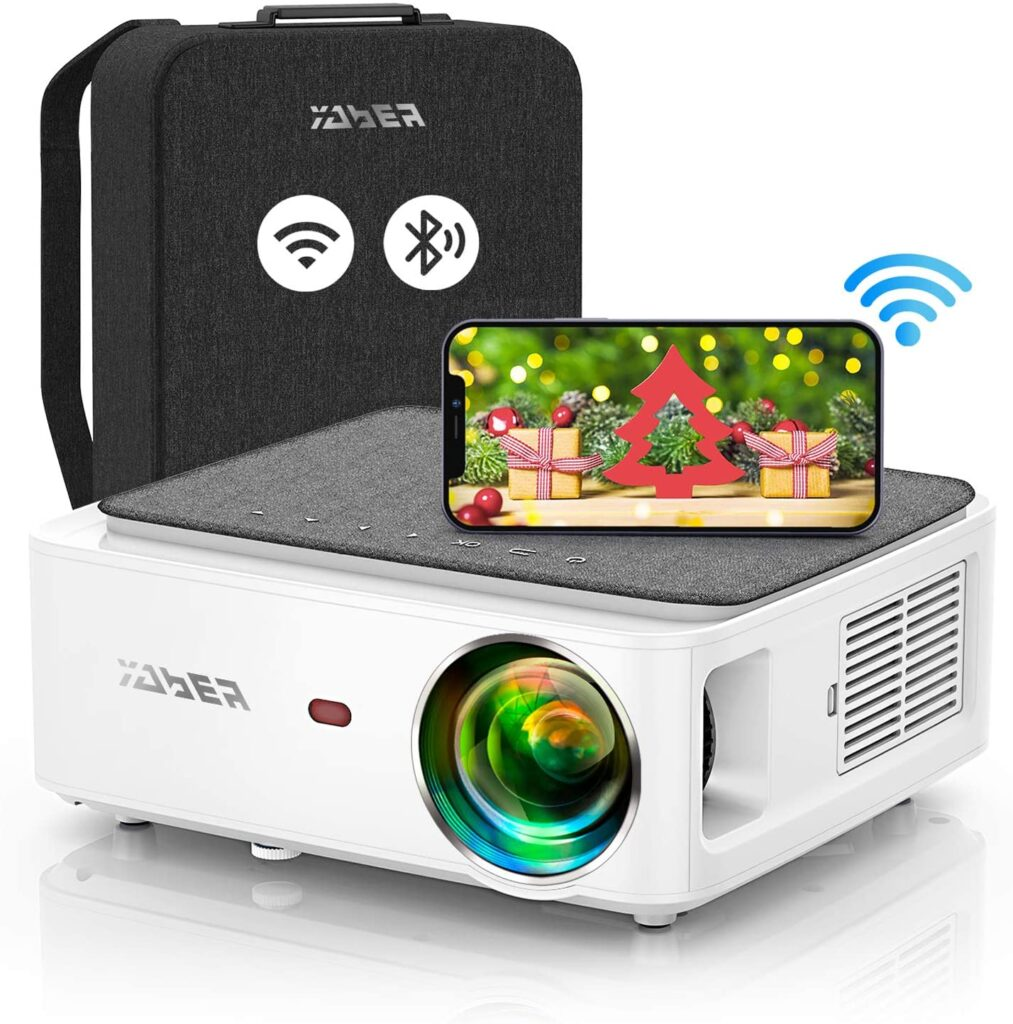 YABER V6 Wi Fi Bluetooth Projector 8500L Upgrade Full HD Native 1920×1080P Projector