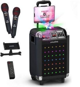 MASINGO Bluetooth Karaoke Machine For Adults And Kids
